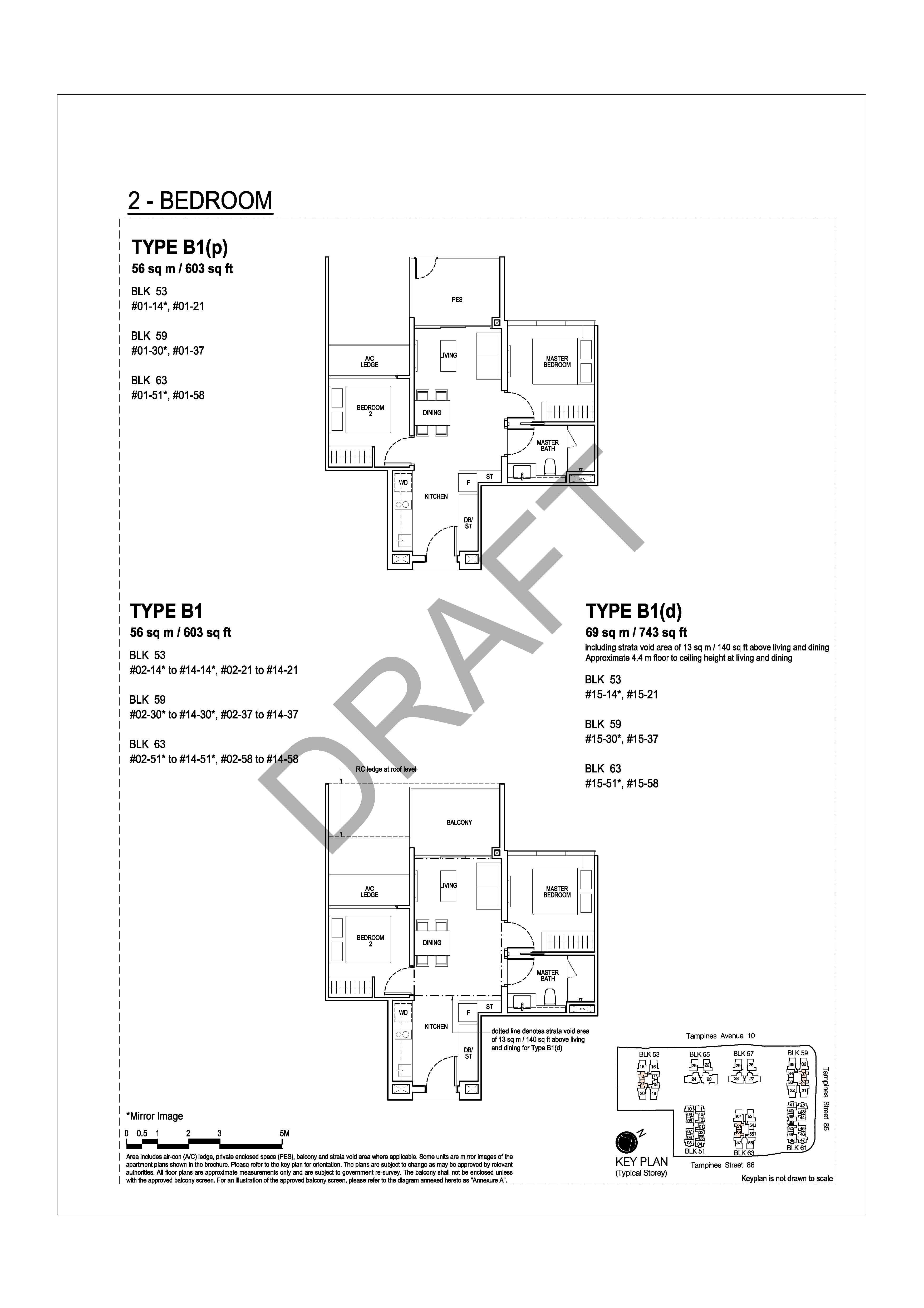 The Tapestry Floor Plans View Unit Distribution For All Bedroom Layouts